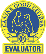 a dog training extra - the AKC official seal for Canine Good Citizen Evaluator