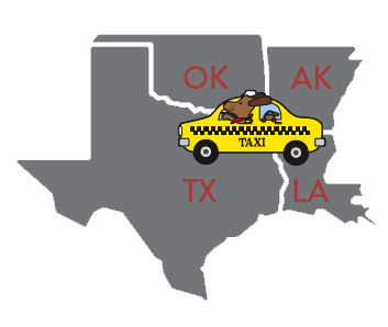 We will pick your pet up from Texas, Oklahoma, Arkansas or Louisiana