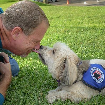 Man with ESA dog