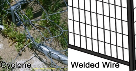 cyclone fencing versus welded wire fencing
